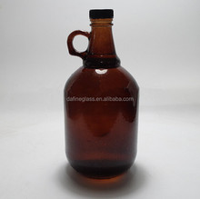 32 oz 64oz Amber beer Glass Growler Amber 1 gallon Glass Growler Jug customised with Optional Caps