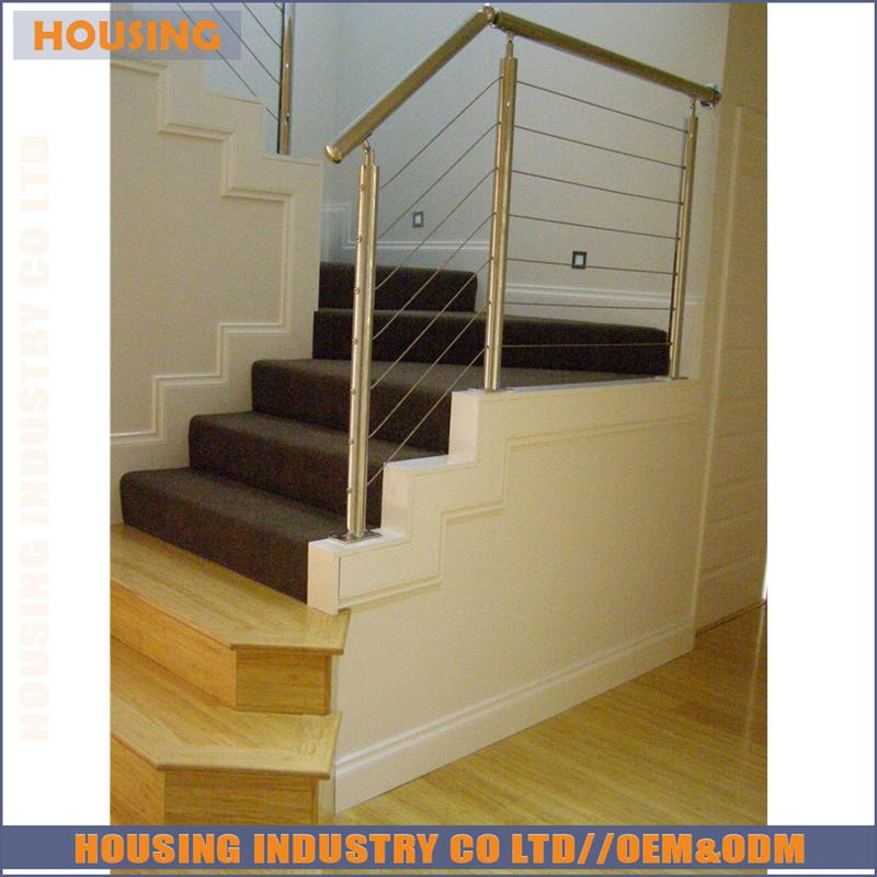 cheap price indoor stair modern design 304 stainless steel cable post railing