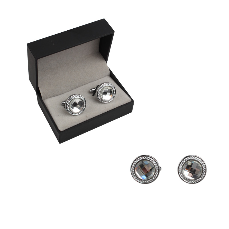 Newest Classical wholesale soft enamel silver mens cufflinks