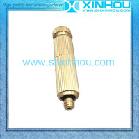 Brass fine misting outdoor cooling water fog anti drip spray nozzle