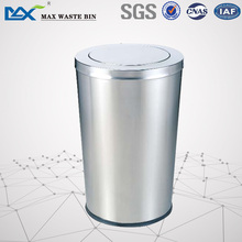Shopping Mall stainless steel waste separating bin cone odm decorative trash can with lid