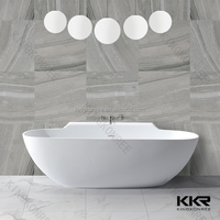 Kingkonree Best Quality Resin Stone Corner Walk in Bath Tub