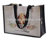 Eco-friendly non woven ,polyester tote bag /water bottle pocket tote bag