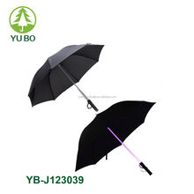 colors changeable flash light LED shaft umbrella
