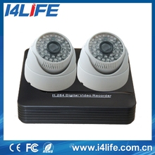 h.264 4ch dvr combo cctv camera kit/ Indoor Outdoor h.264 diy dvr kit