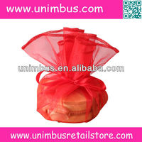 wedding favor organza circles