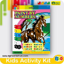 EPRO CA8861D kids diy craft art, horse design paint by numbers set