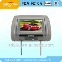 "7"" 9'' car headrest dvd built in USB/SD/MP4/wireless game"