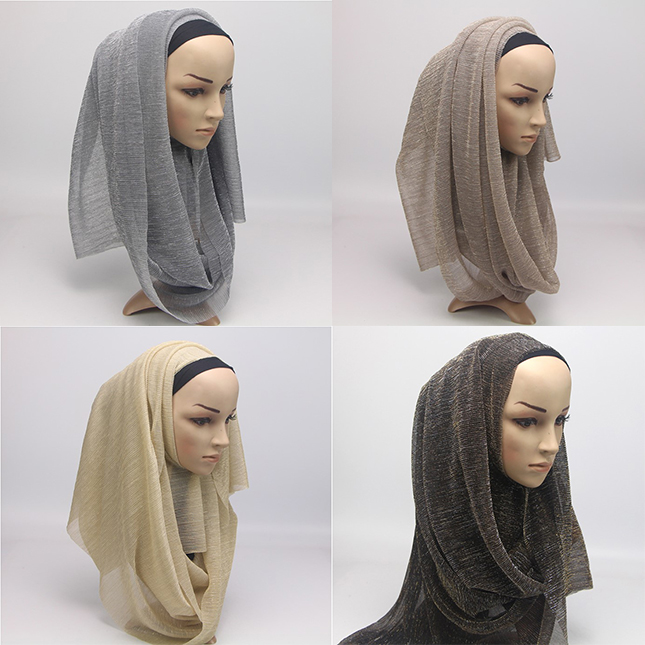 2018 Hot Selling Design High Quality Polyester Muslim Hijab Fashion Arab Women Shawl Wrap Lady Solid Color Thin Scarf Wholesale