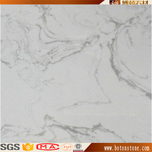china manufacturer white colour gray / grey vein Artificial white marble