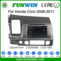 "Funwin Android 4.4.4 car stereo Dashboard Placement 7"" car dvd gps for honda civic USB SD TV tuner left hand 2006 - 2011"
