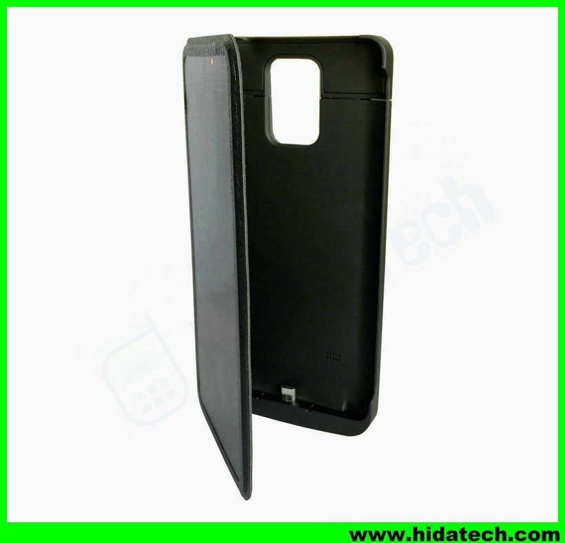 Wholesale 4200mah external battery solar power bank flip phone cover case for samsung galaxy note 3