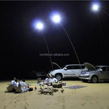 M9x2 3Level dimming & Flashing 48W Desert safari 12VDC Telescopic LED Fishing Rod Lights Camping Light lantern