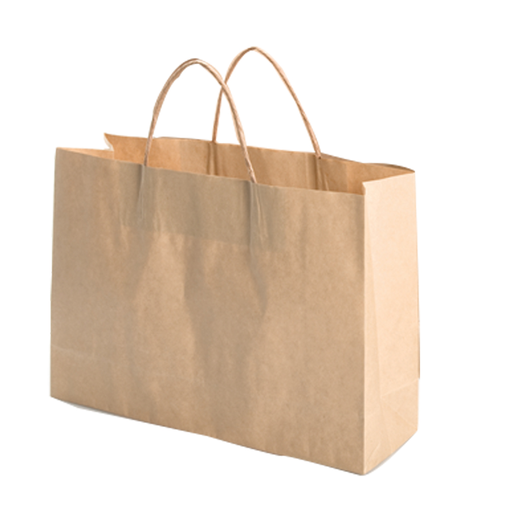 Customised grocery brown kraft paper packaging bag