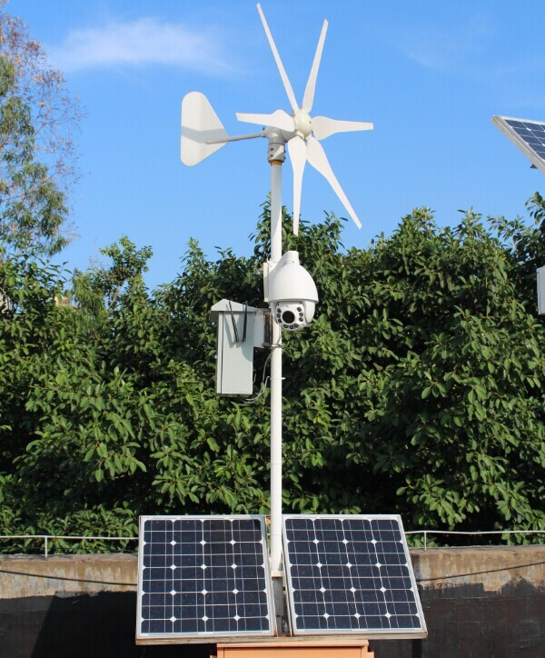 2014 New Products Solar&Wind Hybrid Power System with 3G Sim card PTZ IP Camera IR Night Vision