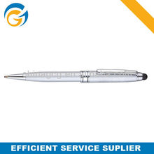 Screen Touch Metal Twist White Color Ball Pen