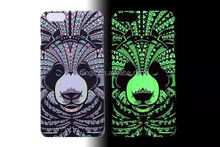 2015 New design Luminous Animal Totem Relief Glow in the Dark Mobile Phone Cover Case for iphone 6 design case wholesale