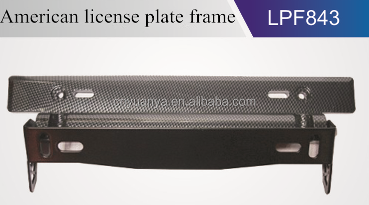 Adjustable Carbon Fiber Car License Plate Frame