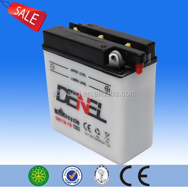 High Performance 6V11AH flooded conventional lead acid motorcycle battery