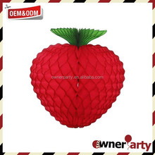 Low MOQ Customized Raspberry Tissue Paper Party Decoration