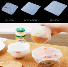 3Pack FDA Silicone Stretch Wrap for Food,Silicone Cling Food Wrap Fresh Keeping Film,Silicone Food Wraps Seal Cover Stretch
