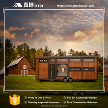 Light Steel Structure Log Cabin Tiny Wood House
