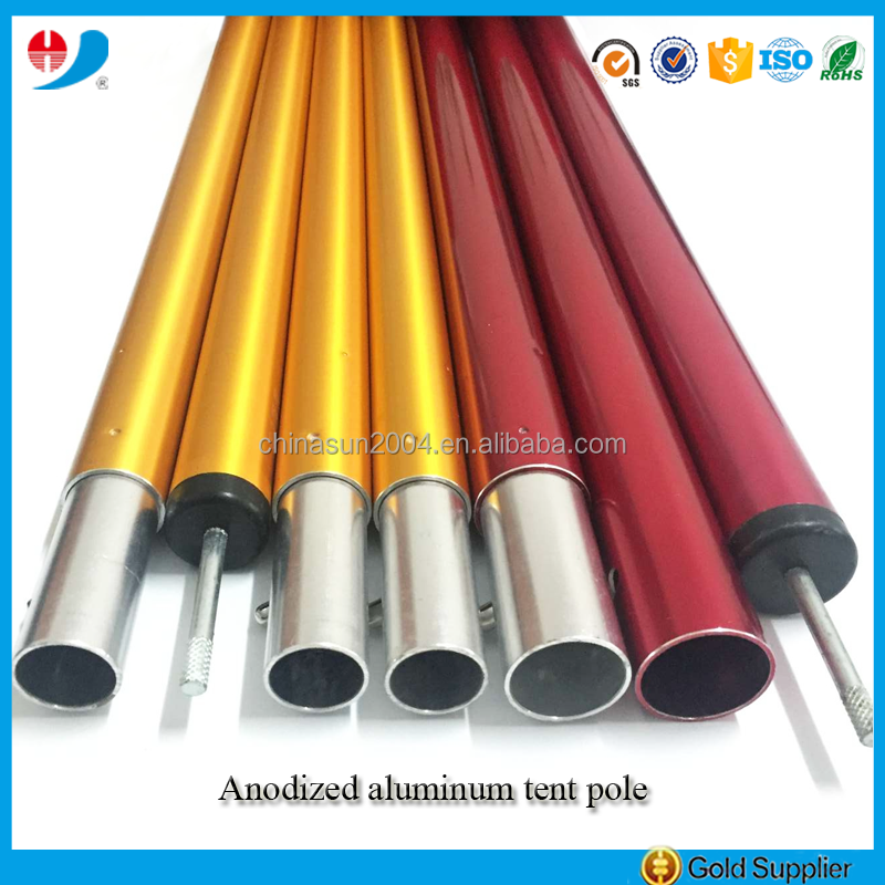 Attractive color anodized aluminum tube for tent