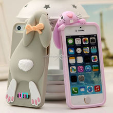 Cute rabbit phone cover for Apple iphone 5S rabbit silicone protective cover