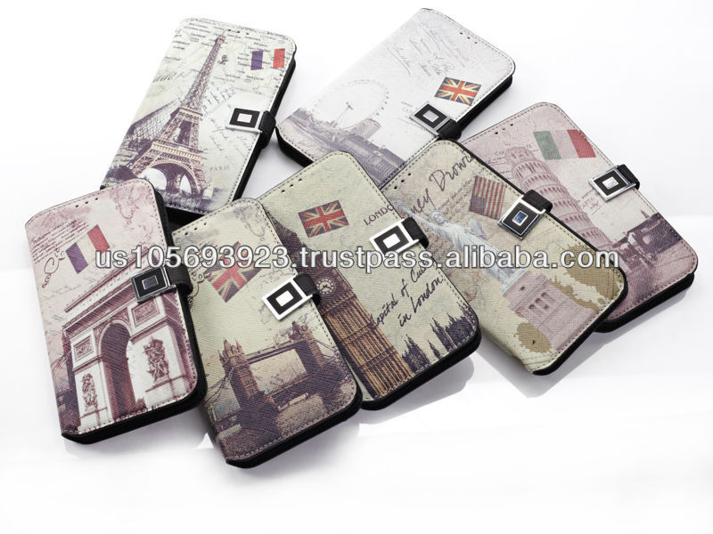 World Interests Leather Case For SUMSUNG S5 With Credit Card