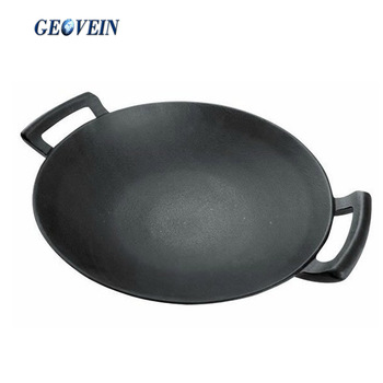 China kitchen accessories large cooking wok with two handles