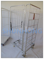 Transporting Foldable Steel Rolling Cage Container SH-RC01