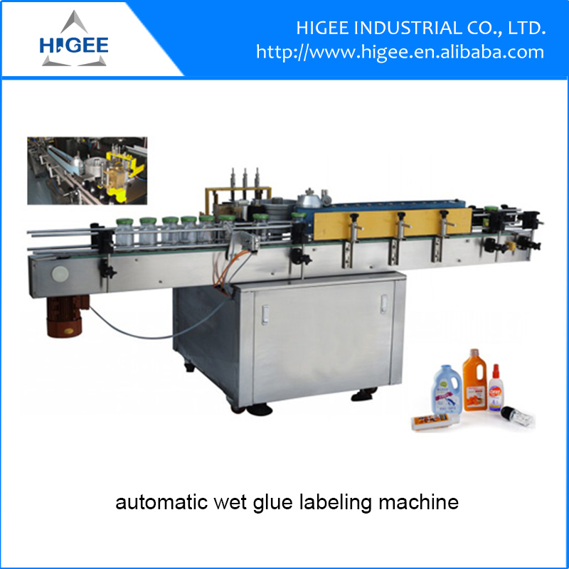 automatic cold glue labeling machine wet glue paper label applicator with CE