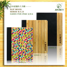Woode for I pad Cover With Leather