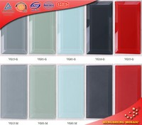 Hot Sales in North America 3x6 Bevel Glass Subway Wall Tile
