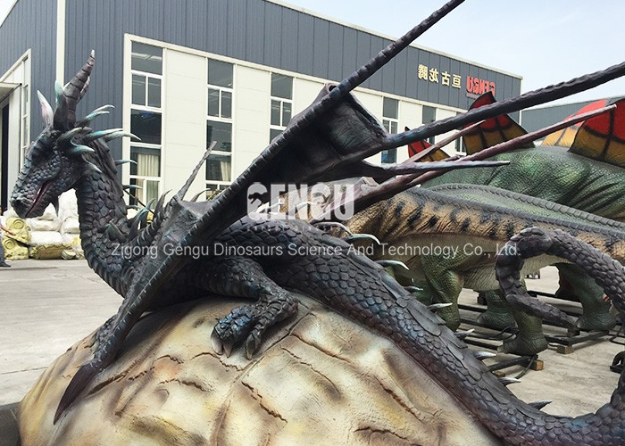 Indoor Playground High Simulation Model Mechanical Dragon