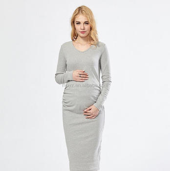 729b9b8799ac L2191A Wholesale pregnant women online shopping clothing long sleeve  maternity maxi dress