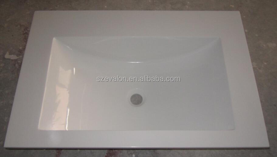 repairable acrylic shampoo sinks/wall-hung resin basin, solid surface bathroom wash basin
