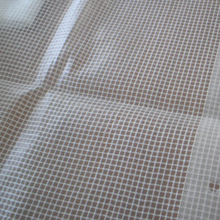 PVC coated polyester mesh material for clear pvc mesh zipper bag