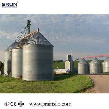 SRON Brand Solid Steel Wheat Silo To Resist Extreme Wind And Snow Load