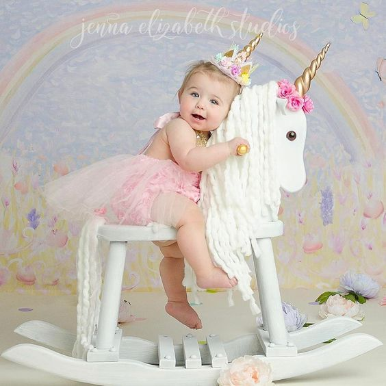 Unicorn party animal headdress floral headband hot girl picture
