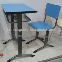 Modern steel frame cheap wooden middle school student desk and chair