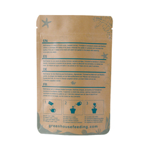 Good Quality Printing Biodegradable Kraft Paper Zipper Pouch for cocount,cocoa and Dried Fruit