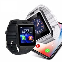 Sports Android DZ09 u8 a1 GT08 Q18 M26 V8 Y1 X6 T8 Smart Watch Blue tooth phone Watch for samsung
