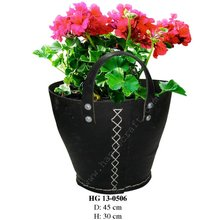 Recycled rubber flower pots/ Recycled rubber planters/ Rubber buckets (HG 13-0506)