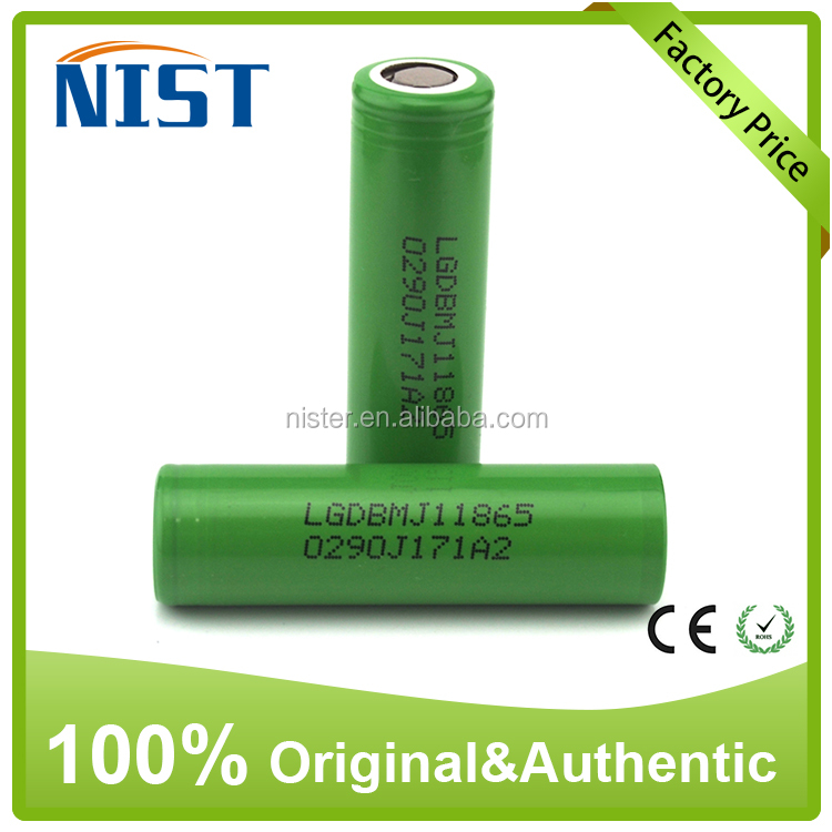 Hot & Top brand LG 18650 battery 3.7V 3500mah 10A e cig suppliers china