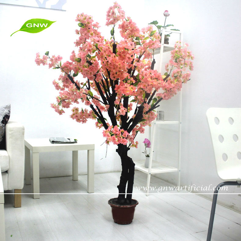 BLS041 GNW Chinese Wholesale Supplies Artificial Bonsai Cherry Blossom Trees for wedding stair decoration