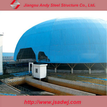 Well Design Galvanized Metal Dome Roof Steel Structure for Coal Storag Bins