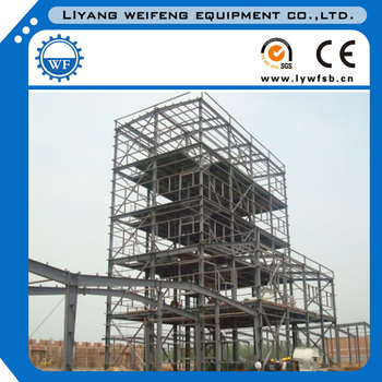 steel structure building for feed production line