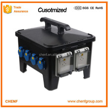 IP67 waterproof outdoor Combination socket portable power industrial outlet distribution board box