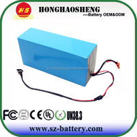 China High power Deep Cycle Lithium ion 48v 17ah scooter battery with BMS
